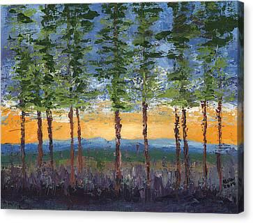 Winter Sunset Canvas Print by William Killen