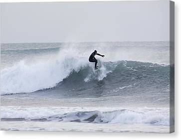 Winter Surfing Canvas Print by Tim Grams