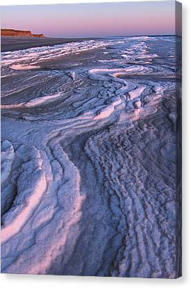 Winter Tide On Plum Island Canvas Print by Juergen Roth