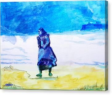 Winter Tide Walker Canvas Print by Seth Weaver