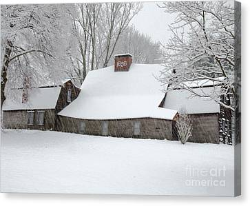 Winter At The Fairbanks Canvas Print by Stephen Flint