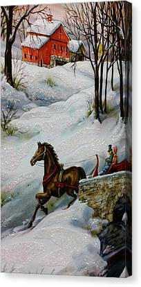 Winter Time With T And R Canvas Print by Rob Hans
