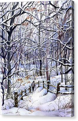 Winter Trail Canvas Print by Beth Kantor