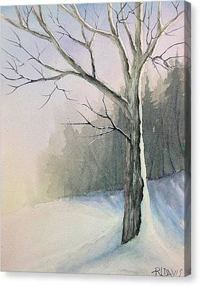 Canvas Print featuring the painting Winter Tree by Rebecca Davis