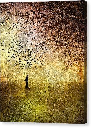 Winter Trees Canvas Print by Bob Orsillo