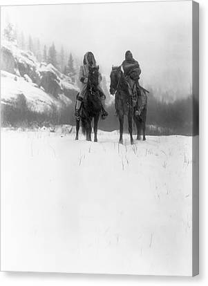 Winter Trek   1908 Canvas Print