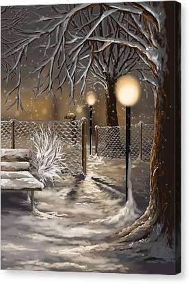 Winter Landscapes Canvas Print - Winter Trilogy 3 by Veronica Minozzi