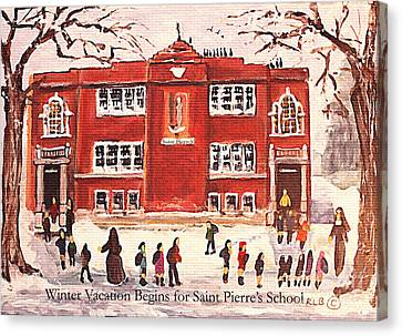 Winter Vacation Begins For Saint Pierre's School Canvas Print