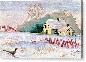 Winter Visitor Canvas Print by Marilyn Smith