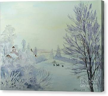 Winter Visitors Canvas Print by Martin Howard