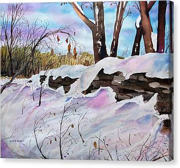 Winter Wall  Canvas Print by Scott Nelson