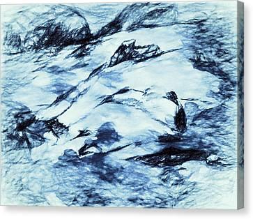 Winter Wasteland Canvas Print by Jo-Anne Gazo-McKim