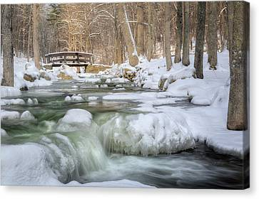 Canvas Print featuring the photograph Winter Water by Bill Wakeley