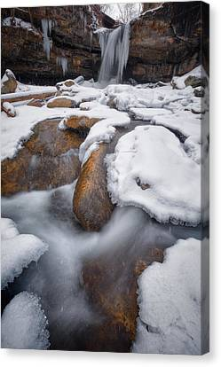 Stormy Weather Canvas Print - Frankfort Mineral Springs   by Emmanuel Panagiotakis