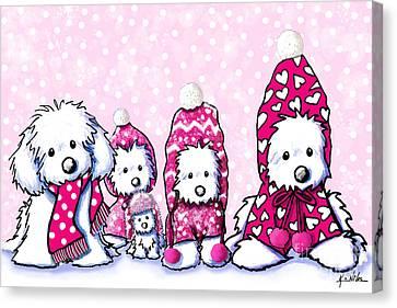 Winter Whimsy Maltese Canvas Print by Kim Niles