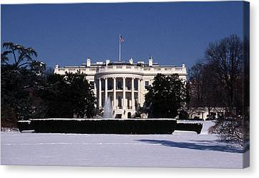 Winter White House  Canvas Print by Skip Willits