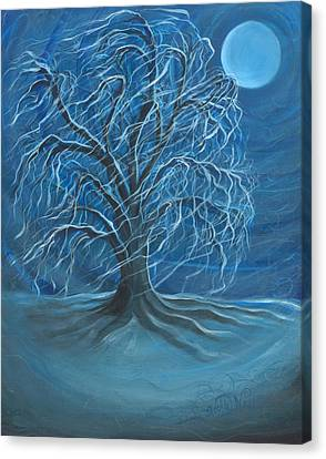 Winter Willow Canvas Print by Beckie J Neff