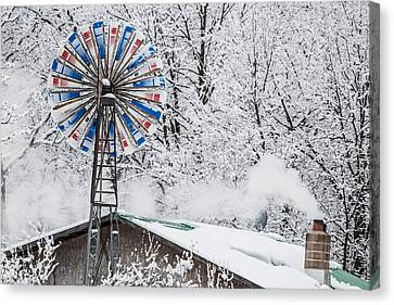 Winter Windmill Canvas Print
