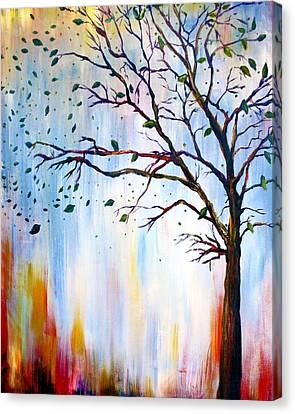 Winter Windstorm Canvas Print