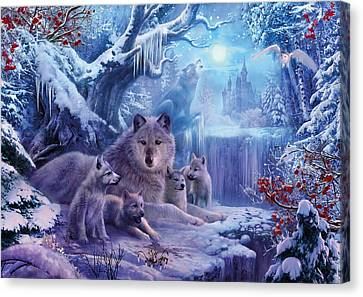 Winter Wolves Canvas Print by Jan Patrik Krasny