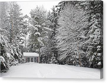 Canvas Print featuring the photograph Winter Wonderland by Barbara West