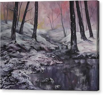 Cannock Chase Canvas Print - Winter Wonderland by Jean Walker