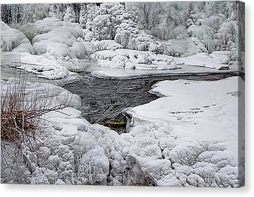 Canvas Print featuring the photograph Vermillion Falls Winter Wonderland by Patti Deters