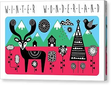 Winter Wonderland Canvas Print by Susan Claire