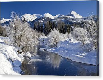 Riviere Canvas Print - Winter Wonderland Whistler B.c by Pierre Leclerc Photography