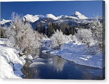 Winter Wonderland Whistler B.c Canvas Print by Pierre Leclerc Photography