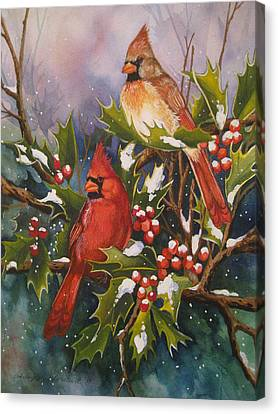 Winter Wonders Canvas Print by Cheryl Borchert