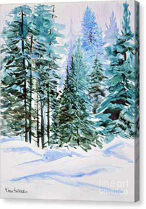 Winter Woods Canvas Print by Joan Hartenstein