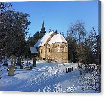 Canvas Print featuring the photograph Winter Worship by John Williams