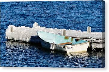 Winter Yacht Canvas Print