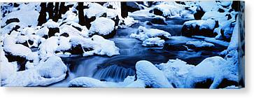 Snow-covered Landscape Canvas Print - Winter Yosemite National Park Ca by Panoramic Images
