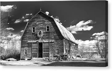 Winterberry Farm Canvas Print by Guy Whiteley