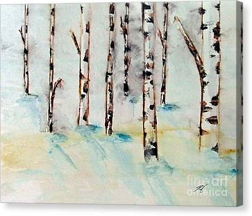 Winterbirch Canvas Print by Ayasha Loya