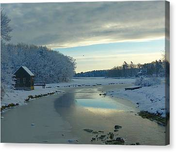 Canvas Print featuring the photograph Winterlude by Elaine Franklin