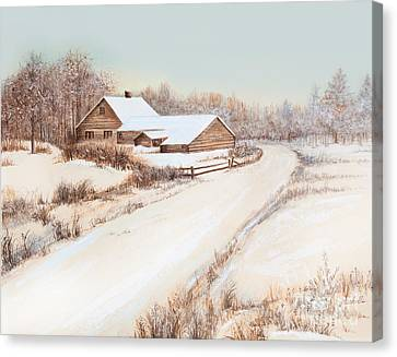 Winterness Canvas Print by Michelle Wiarda