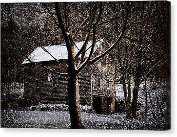 Winters At The Farm Canvas Print by Tricia Marchlik