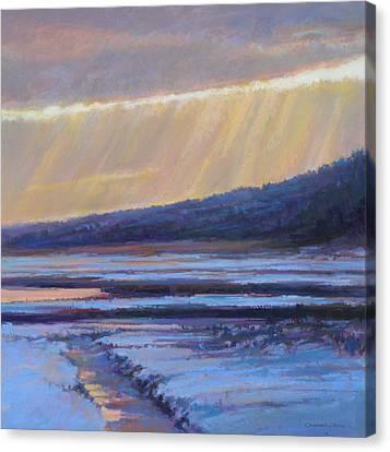 Winter's Dawn Canvas Print by Ed Chesnovitch
