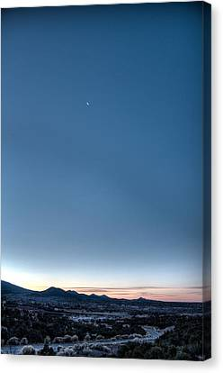 Canvas Print featuring the photograph Winter's Dawn Over Santa Fe No.1 by Dave Garner