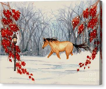 Winter's Eve Canvas Print by Janine Riley