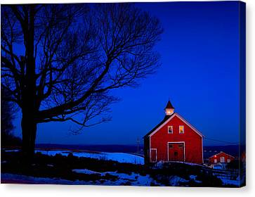 Winter's Eve Canvas Print by Michael Petrizzo