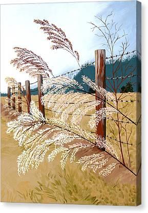 Winter's Flowers Canvas Print by Jennifer  Donald