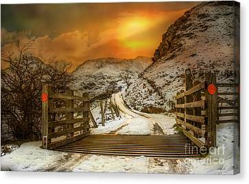 Winters Gate Canvas Print by Adrian Evans