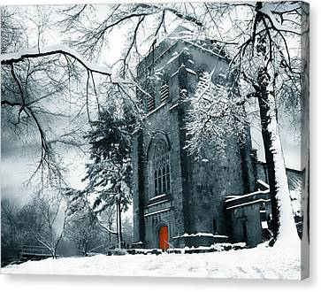 Winter's Gothic Canvas Print by Jessica Jenney