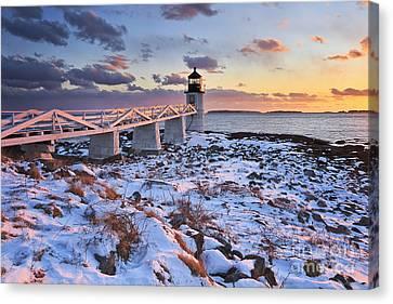 Winter's Light Canvas Print by Katherine Gendreau