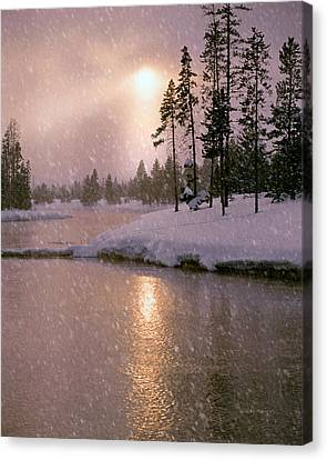 Winters Light Canvas Print by Leland D Howard