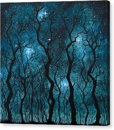 Winter's Night Canvas Print by Sabrina Zbasnik